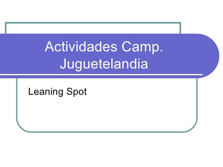 Actividades camp