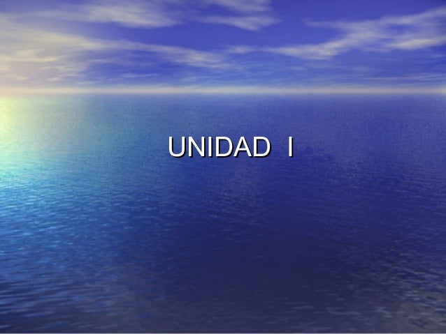 UNIDAD IUNIDAD I