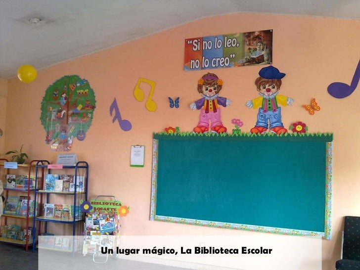 Actividades de lectura en el preescolar for Decoracion de espacios de preescolar