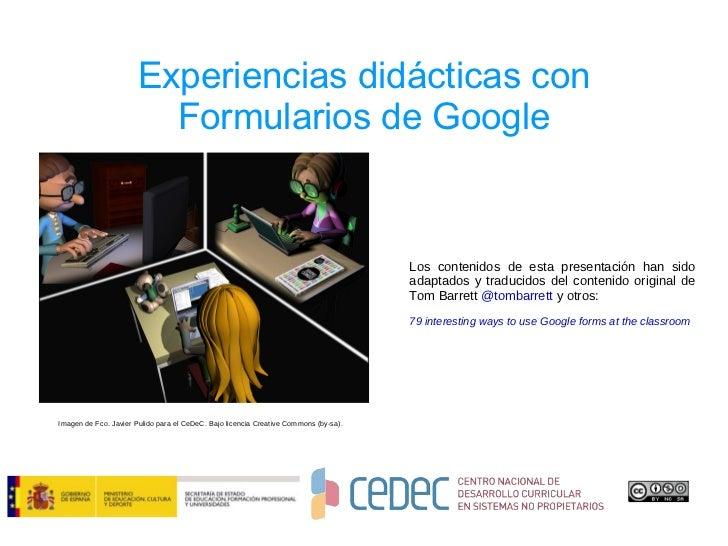 CeDeC. 13 actividades didácticas con Google Forms