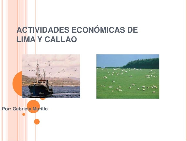 ACTIVIDADES ECONÓMICAS DE LIMA Y CALLAO Por: Gabriela Murillo