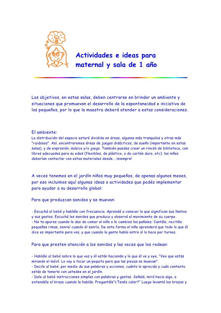 Actividades e ideas para maternal y sala de 1 a o for Actividades en el jardin