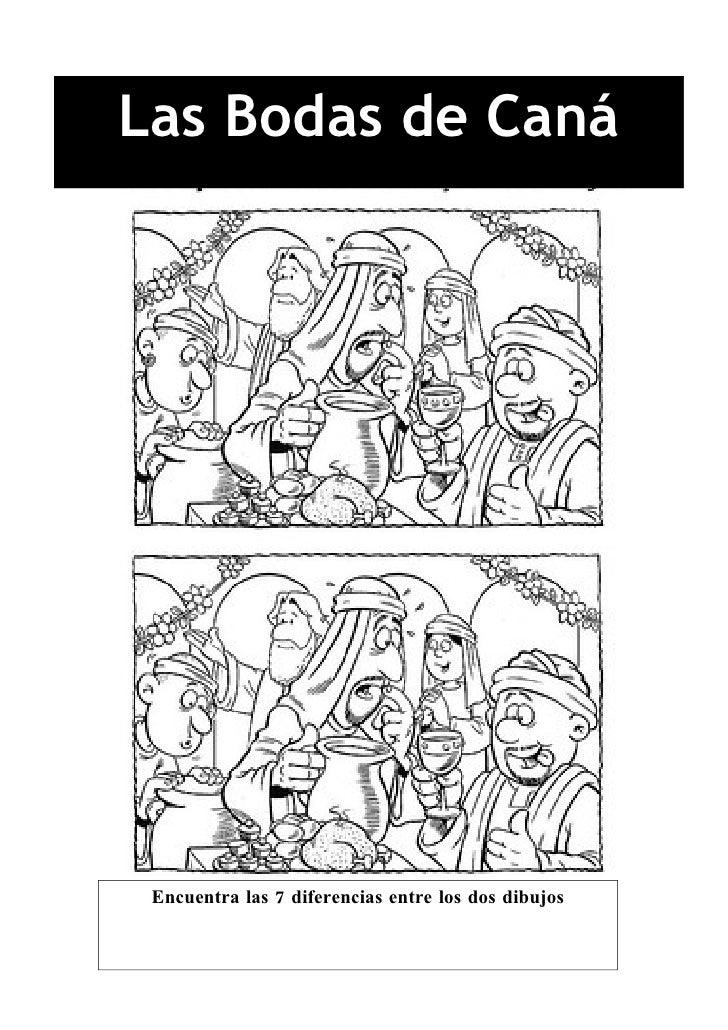 Las Bodas de Caná Encuentra las 7 diferencias entre los dos dibujos