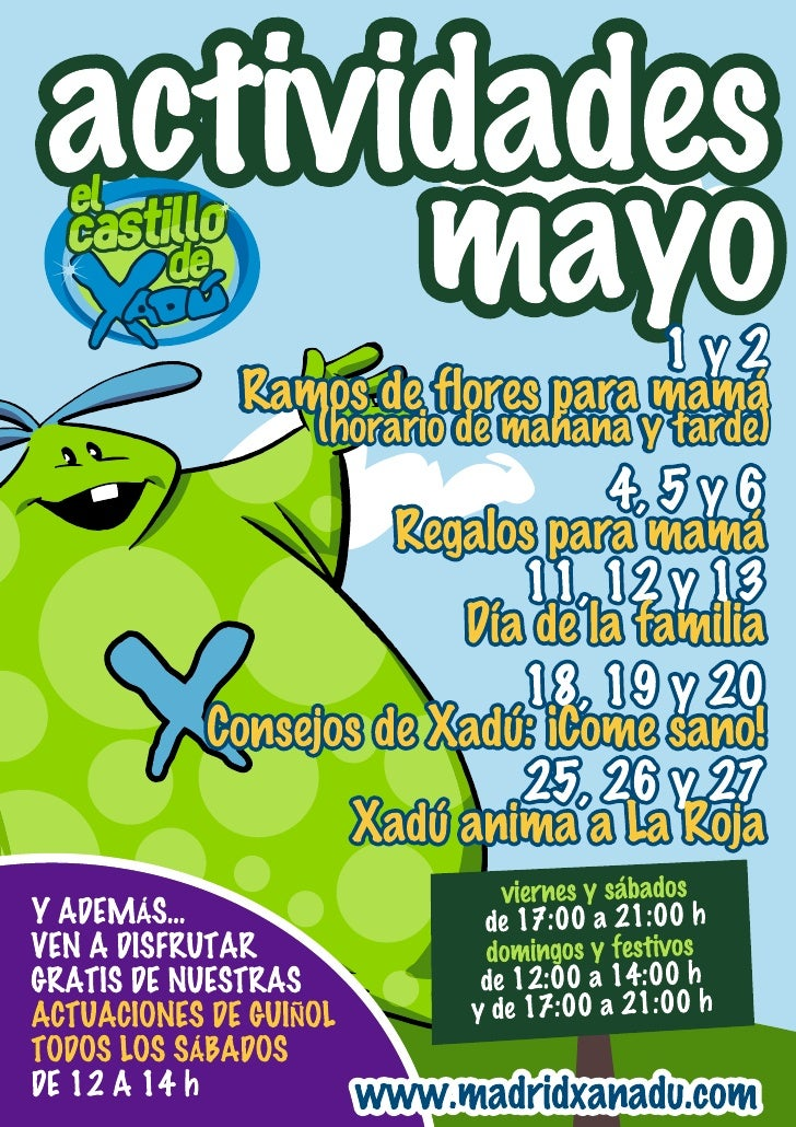 Actividades infantiles mayo 2012