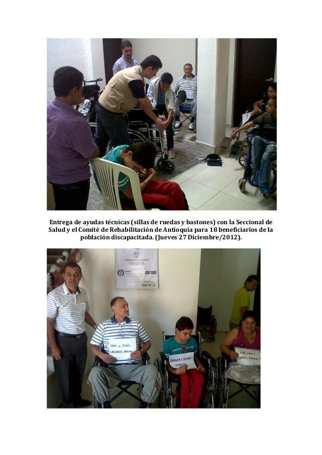 Actividades jueves 27 de diciembre de 2012