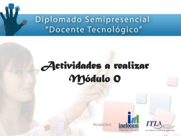 Actividades modulo 0 docente tecnologico