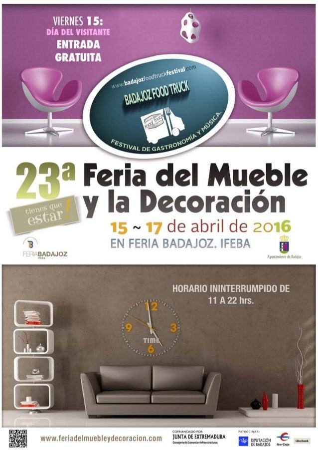 Diptico de actividades de la 23 feria del mueble y la - Comercial del mueble ...