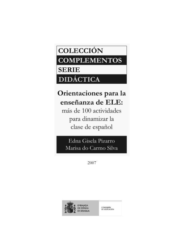 Actividades para dinamizar la enseñanza de español