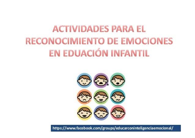 Actividades reconocimiento emociones educacion infantil