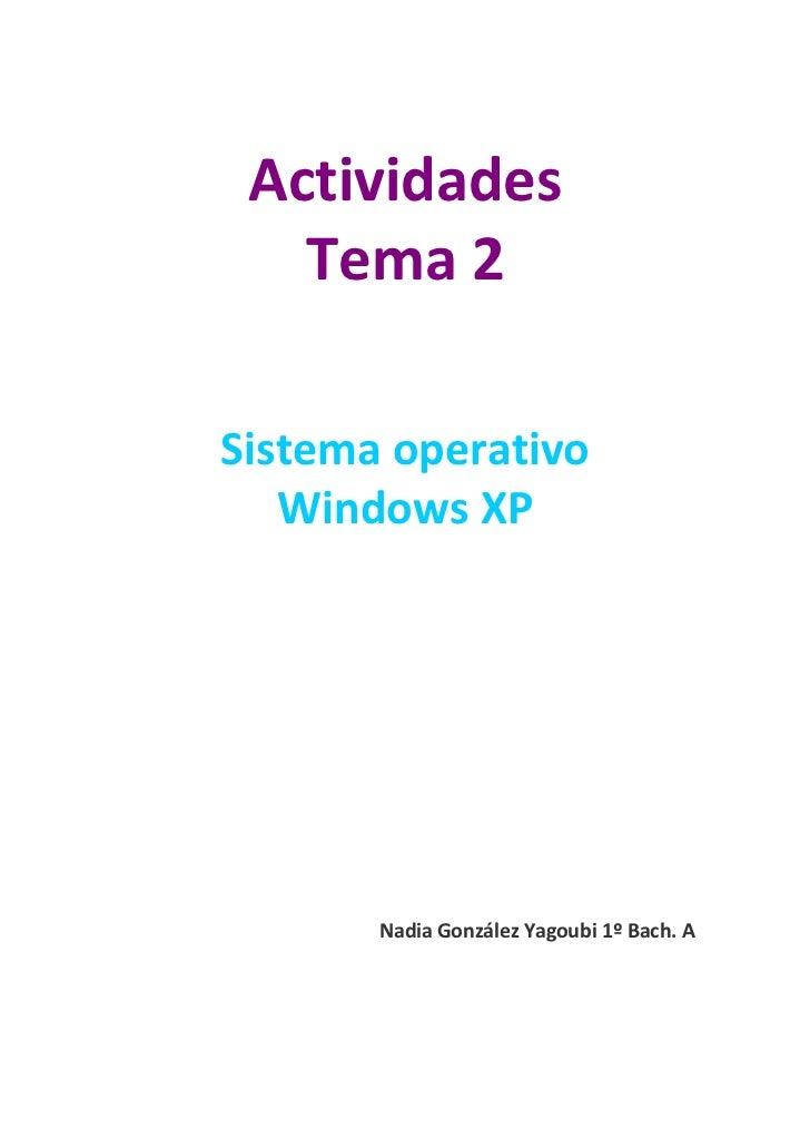 Actividades Tema 2