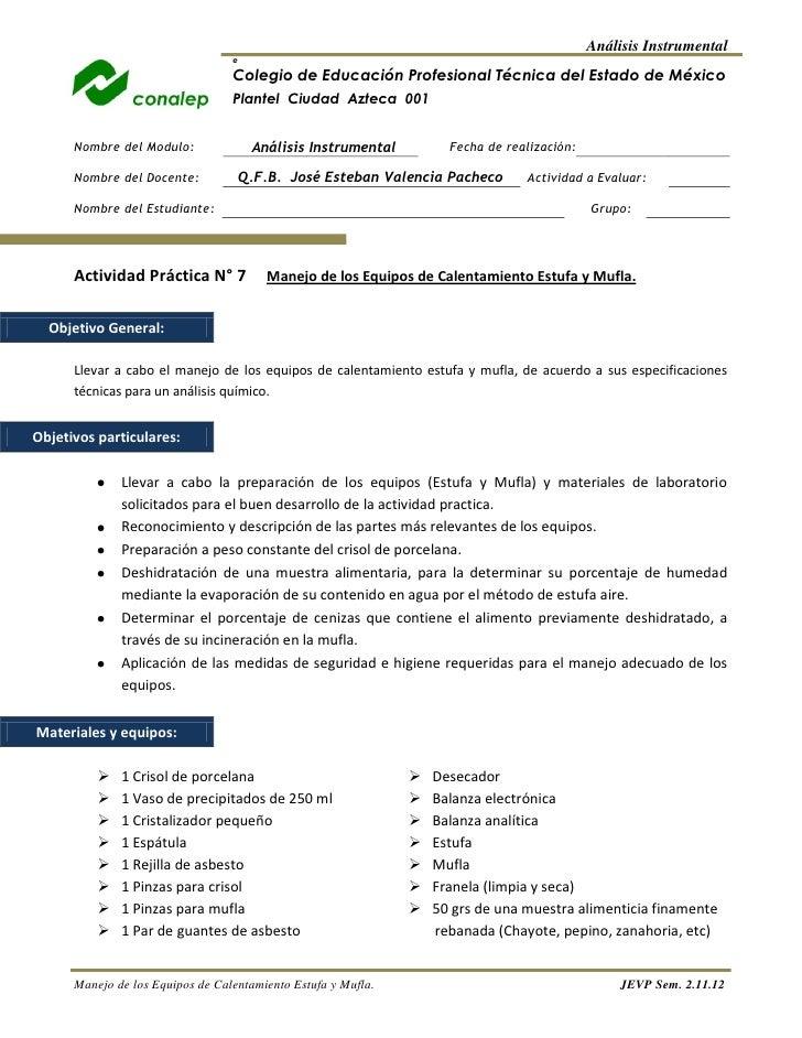 Análisis Instrumental                                  e                                  Colegio de Educación Profesional...