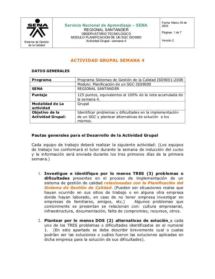 Fecha: Marzo 30 de                        Servicio Nacional de Aprendizaje – SENA              2009                       ...