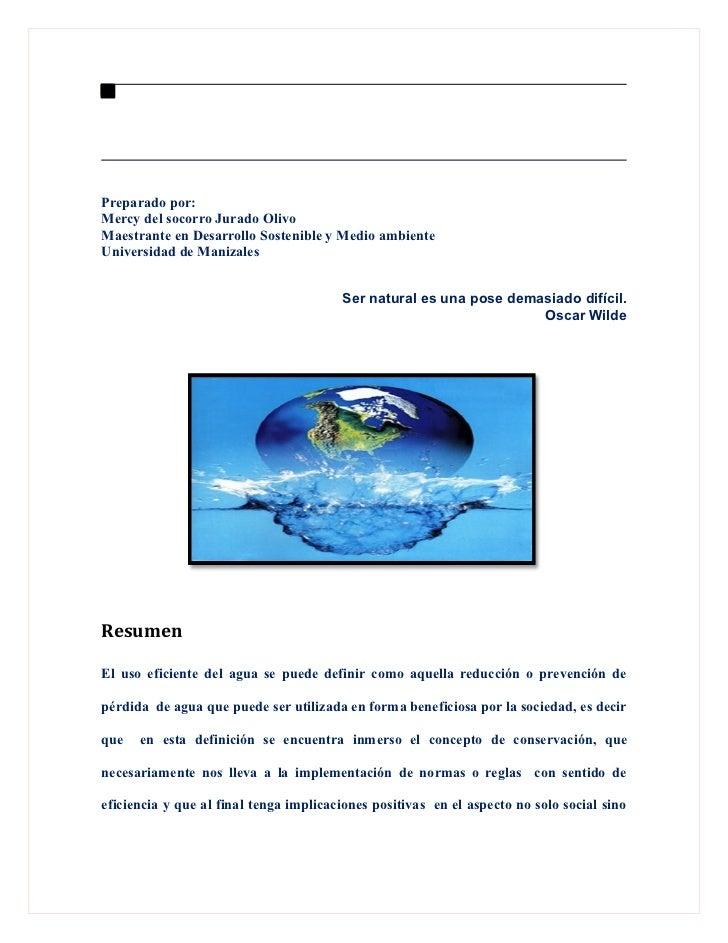 Preparado por:Mercy del socorro Jurado OlivoMaestrante en Desarrollo Sostenible y Medio ambienteUniversidad de Manizales  ...