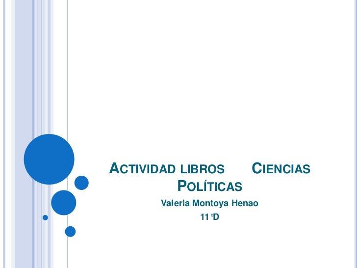 Actividad libros