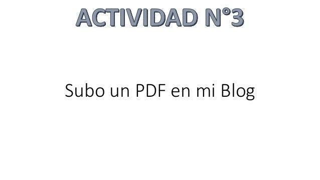Subo un PDF en mi Blog