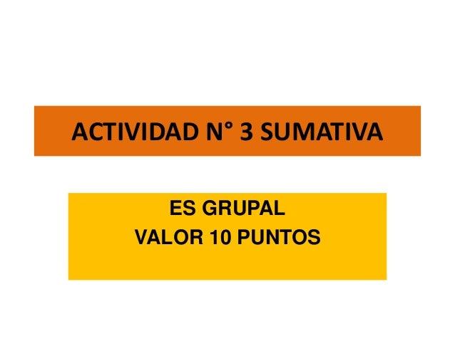 ACTIVIDAD N° 3 SUMATIVAES GRUPALVALOR 10 PUNTOS