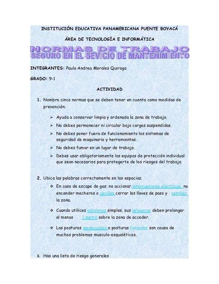 INSTITUCIÓN EDUCATIVA PANAMERICANA PUENTE BOYACÁ                 ÁREA DE TECNOLOGÍA E INFORMÁTICAINTEGRANTES: Paula Andrea...