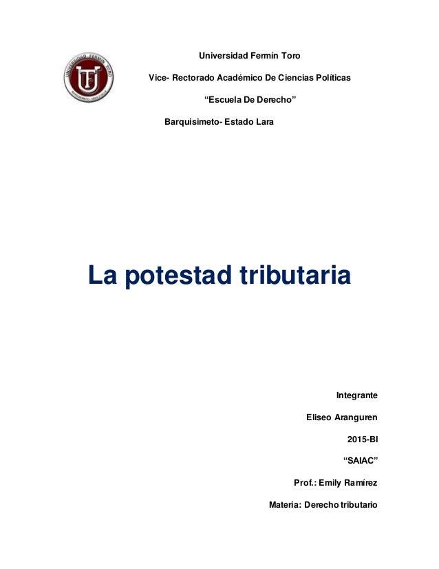 """Universidad Fermín Toro Vice- Rectorado Académico De Ciencias Políticas """"Escuela De Derecho"""" Barquisimeto- Estado Lara La ..."""