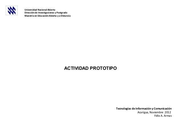 Universidad Nacional AbiertaDirección de Investigaciones y PostgradoMaestría en Educación Abierta y a Distancia           ...