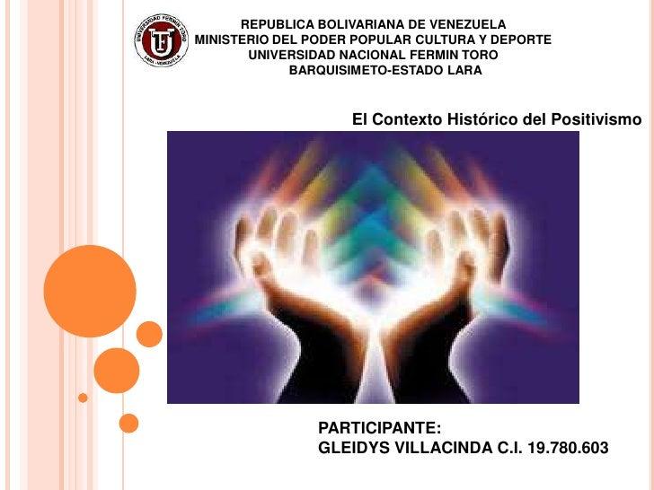 REPUBLICA BOLIVARIANA DE VENEZUELAMINISTERIO DEL PODER POPULAR CULTURA Y DEPORTE       UNIVERSIDAD NACIONAL FERMIN TORO   ...