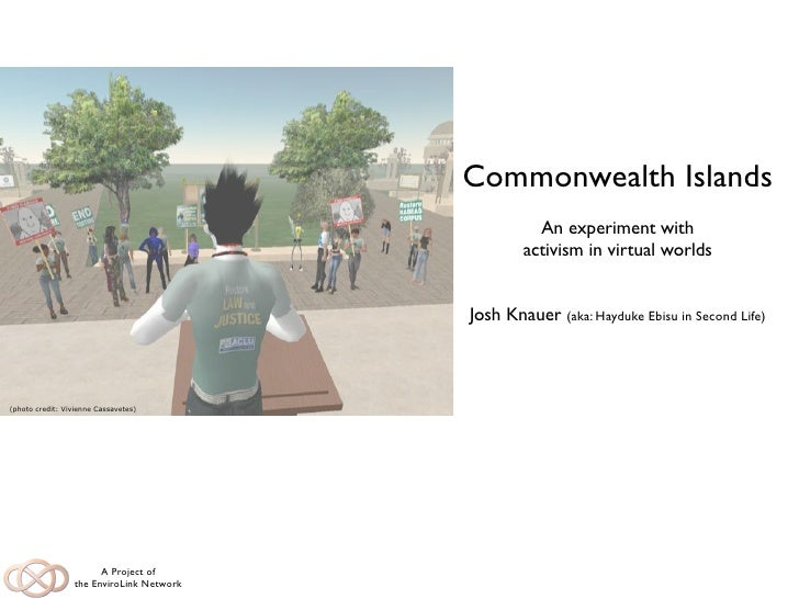Commonwealth Islands                                                     An experiment with                               ...