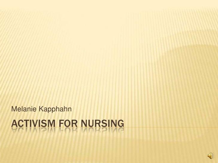 Activism for nursing