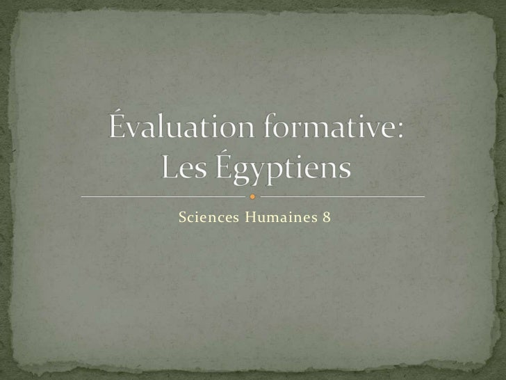 Sciences Humaines 8