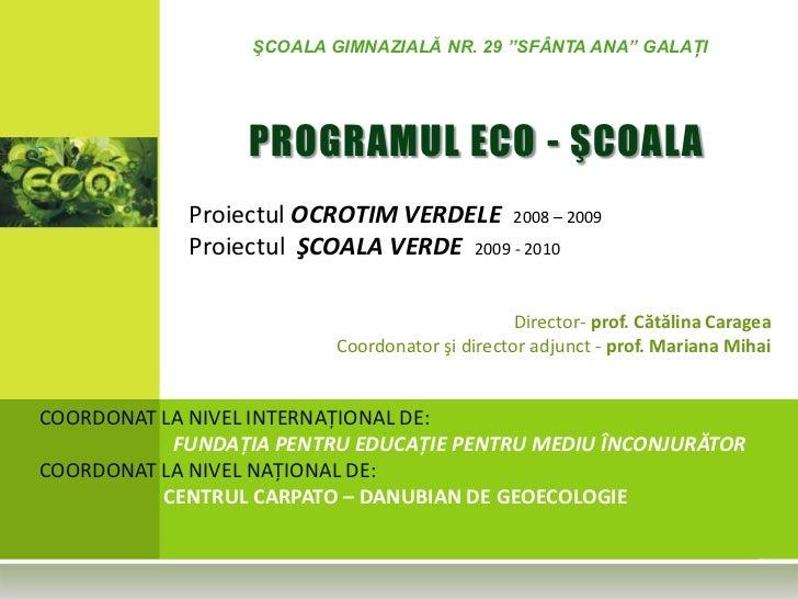 Activitati ECO Scoala 29 Galati