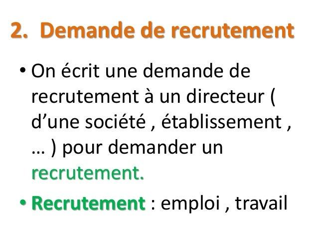 exemple de lettre de demande d emploi pdf