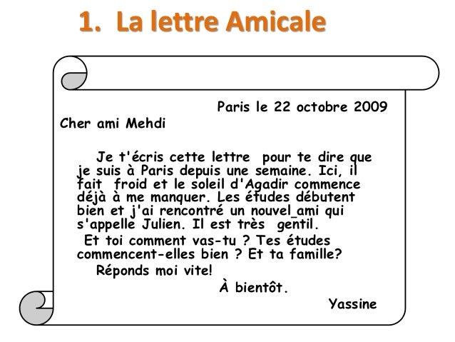 exemple de lettre a un ami