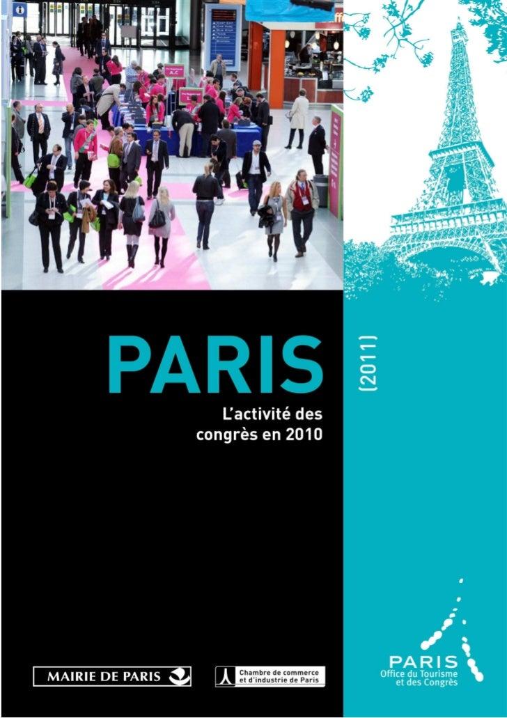 L'activité des congrès 2010 / Office du Tourisme et des Congrès de Paris   1