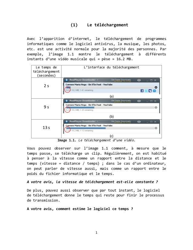 (1)      Le téléchargementAvec l'apparition d'internet, le téléchargement de programmesinformatiques comme le logiciel ant...