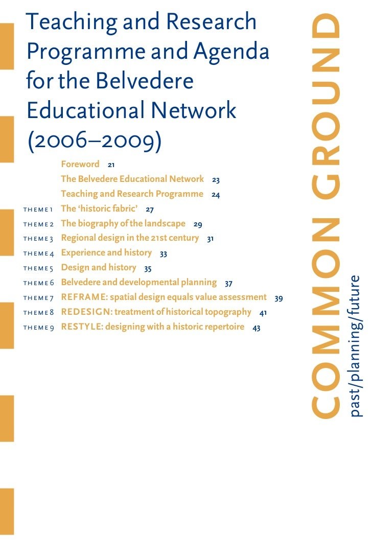 Teaching and Research                                                                      COMMONGROUND     Programme and...