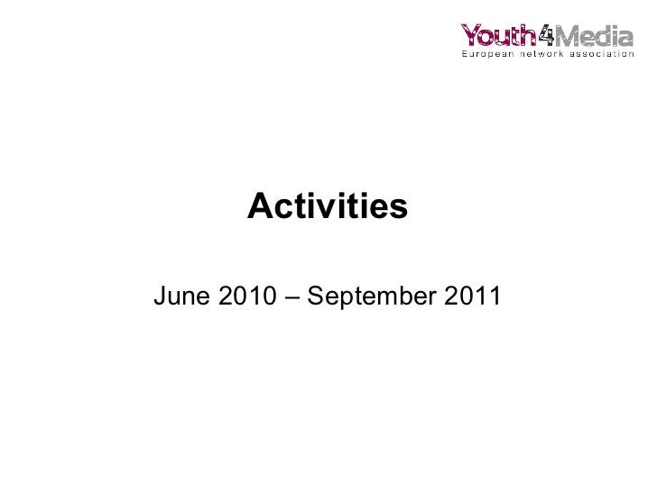Youth4Media activities in 2011