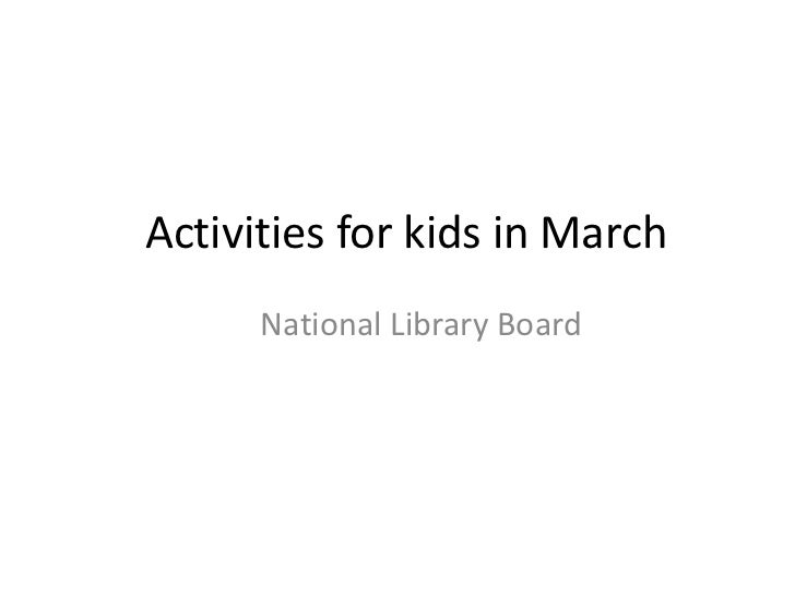 Activities for kids in March<br />National Library Board<br />