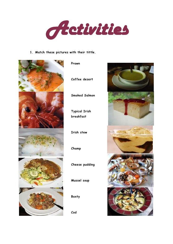 Activities irish foods
