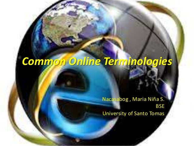 Activity 13 common online terminologies