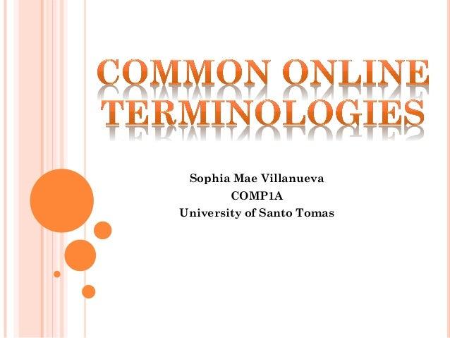 Sophia Mae Villanueva COMP1A University of Santo Tomas