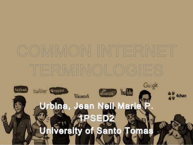 Activity 9 common online terminilogies