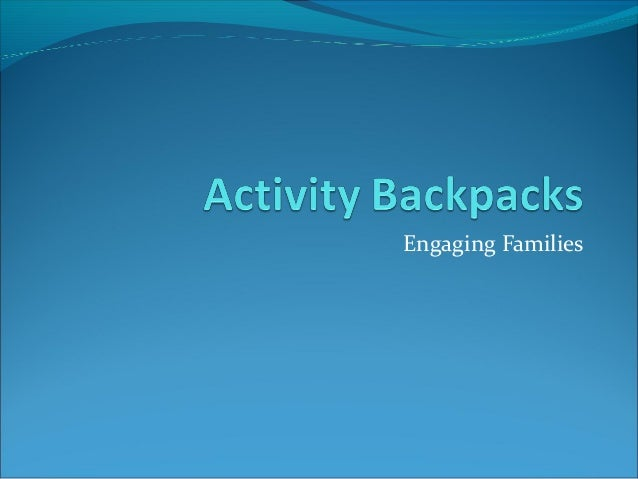 Activity Backpacks for Museums