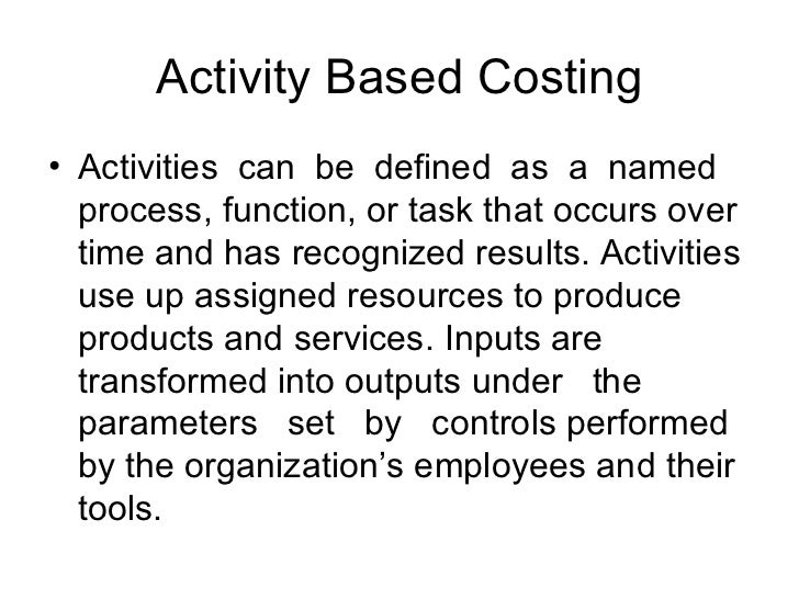 benefits of activity based costing essay