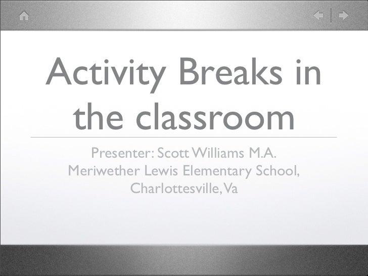Activity break presentation