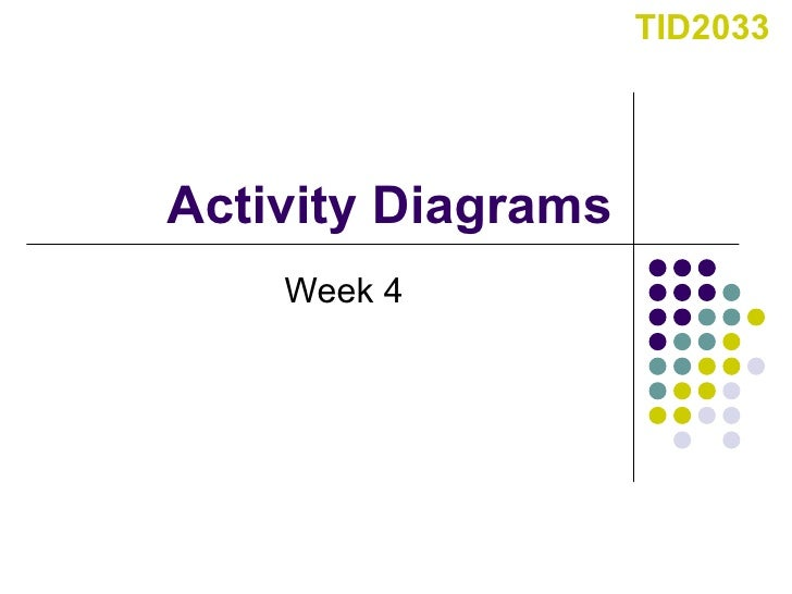 Activity Diagrams Week 4 TID2033