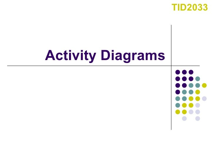 Activity Diagrams TID2033
