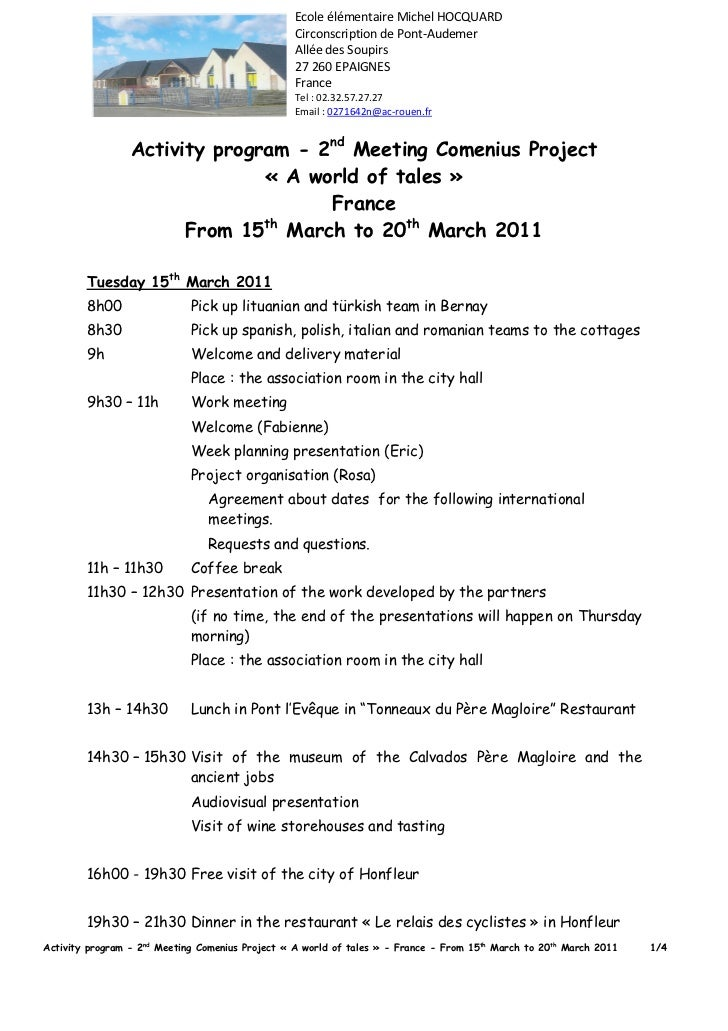 Activity programm france_meeting_march2011