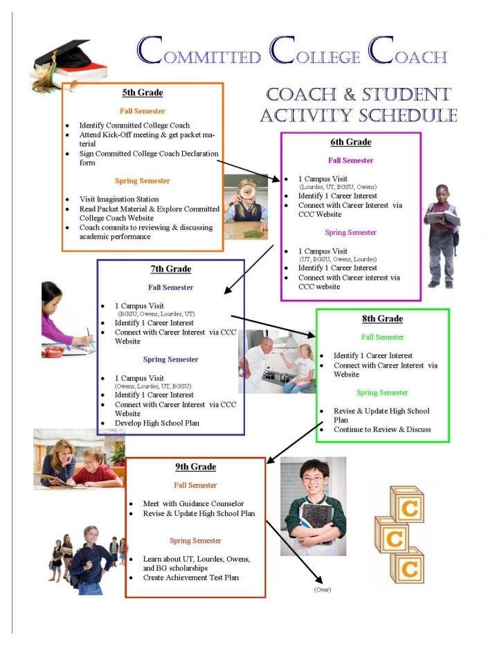 CCC Activity schedule pg 1