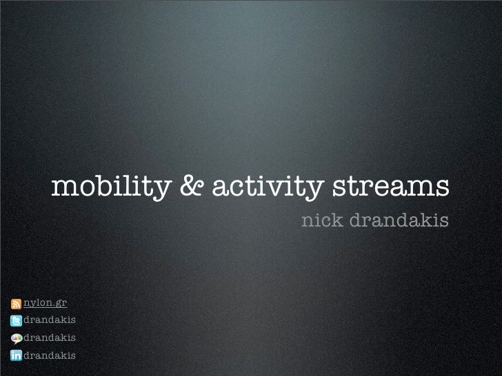 Activity Streams on the Web