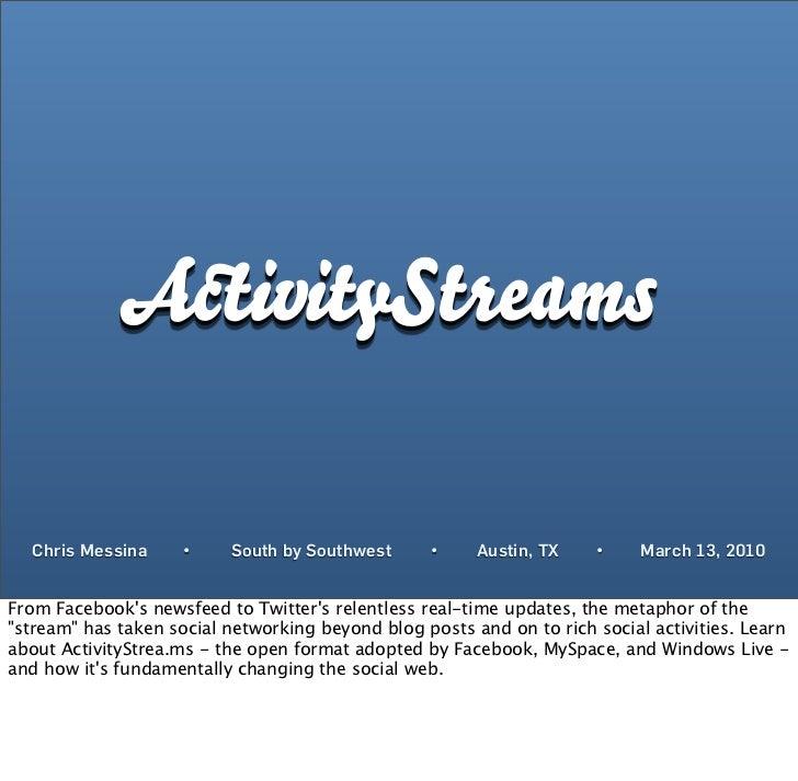 ActivityStrea.ms: Is It Getting Streamy In Here?