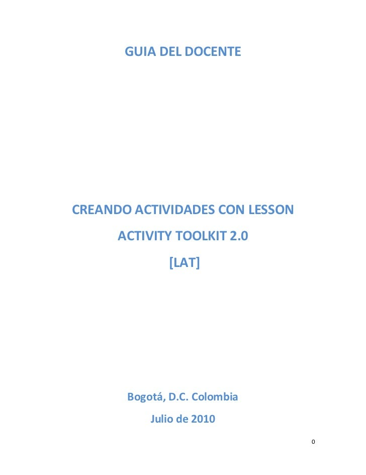 Activity tool kids. sesion 2