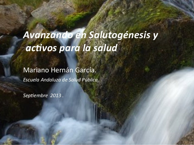 Activos salutogenesis emergentes 2013